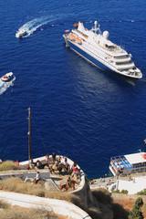 On Santorini, Greece