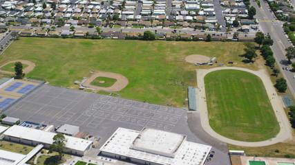 Aerial view of California School College