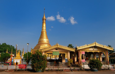 Golden pagoda mawlamyine