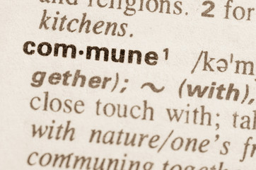 Dictionary definition of word commune