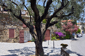 Village of Grimaud in France