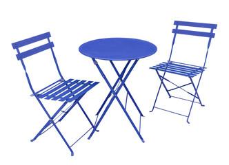 salon de jardin bleu
