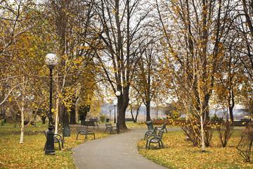 Park in Nowy Sacz. Poland