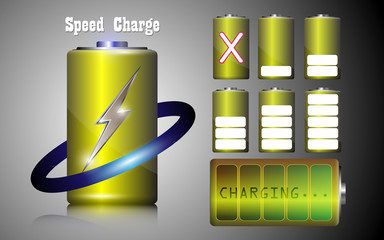 set of speed charge battery alkaline