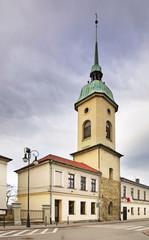 Belfry of evangelical church in Nowy Sacz. Poland