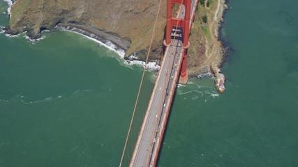 Aerial Golden Gate Bridge San Francisco City Bay area
