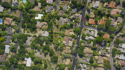 Aerial California Suburban Homes