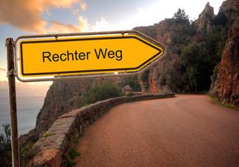 Strassenschild 36 - Rechter Weg