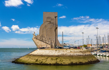 View of Monument to the Discoveries in Lisbon, Portugal