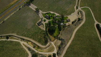 Aerial view of Agricultural farm land California