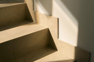 Sun shining on staircase