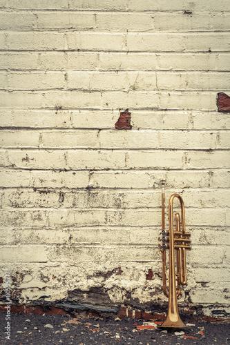 Old Trumpet Brick Wall - 80595717