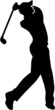 Golf Player Silhouette - 80596302