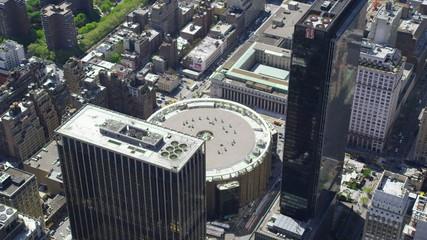 Aerial shot of Madison Square Garden
