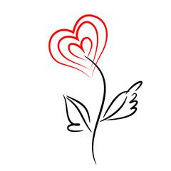 Heart flower.