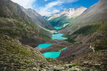 Beautiful turquoise lakes