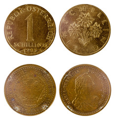 two old austrian coins
