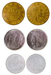 different old italian coins