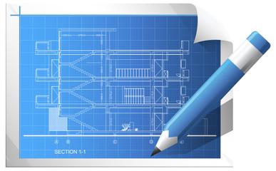 Blueprint Sheet - Illustration