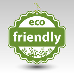 vector green eco friendly product paper price tag label