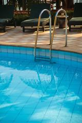 pool in a tropical resort