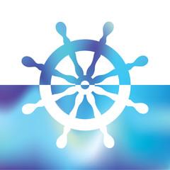 steering wheel rudder - ship steering