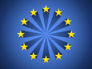 Europe stylized flag