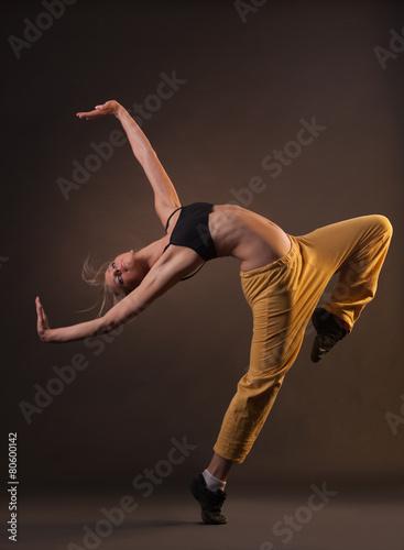 Fotobehang Dance School beautiful woman in motion