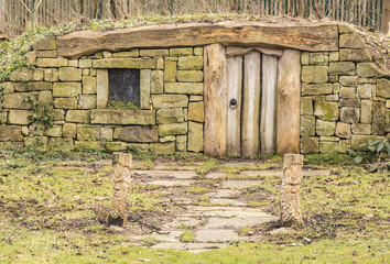 Hobbit Home approach at Burnby Hall Gardens