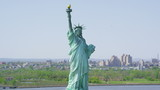 Aerial view of  Statue of Liberty, New York City - 80601137