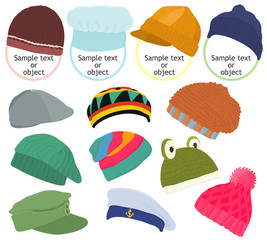 Set of a hat icon B