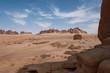 Rock formations near Al-Ula in the deserts of Saudi Arabia - 80601709