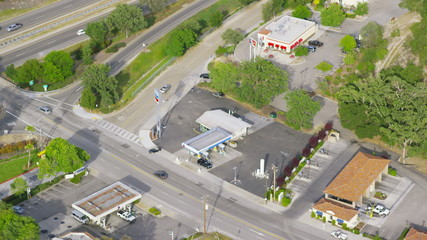 Aerial California gas station