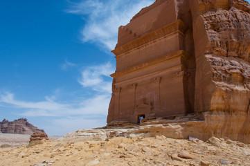 Nabatean tomb in Madaîn Saleh archeological site, Saudi Arabia
