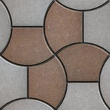 Pattern Pavement in the Form of a Trapezoid. poster