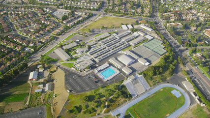 Aerial view of California School or College