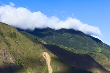 Hills at Banos in Ecuador