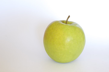Green apple on a white background