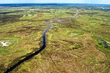 Okavango Delta, Aerial view: Flight over the Delta, Botswana