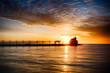 Sunrise over great lake - 80605758