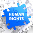 Human Rights on Blue Puzzle.