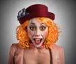 Leinwanddruck Bild - Grimace clown