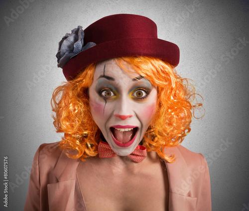 Leinwanddruck Bild Grimace clown