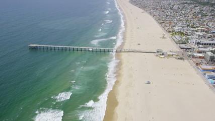 Aerial view of Californian coast