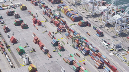 Aerial view of Los Angeles shipping port