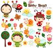 Baby Bugs Vector Set
