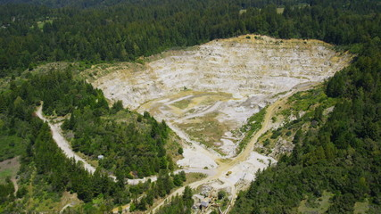 Aerial view of Californian mining quary