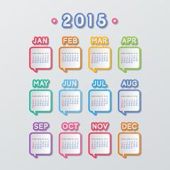 speech bubbles calendar