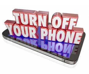 Turn Off Your Mobile Cell Phone Polite Manners Quiet Silent Mode