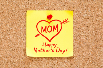 Happy Mothers Day Concept Sticky Note